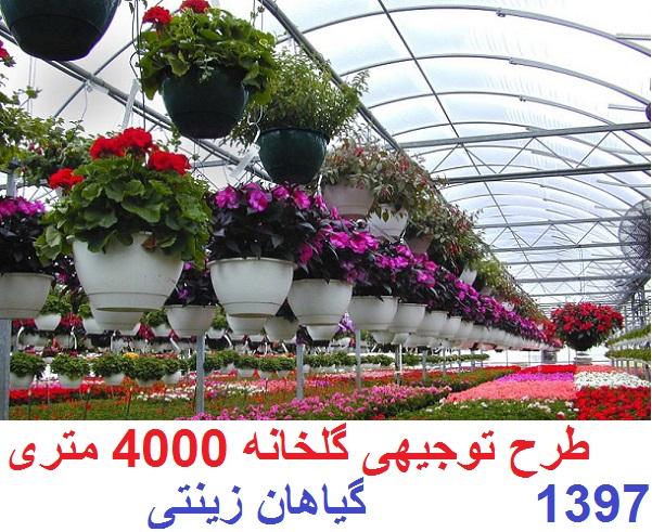 طرح توجیهی گلخانه 4000 متری پرورش گیاهان زینتی سال 97
